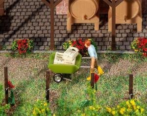 Новинка 2019!Модель 2-х осной садовой тачки.Пр-во FALLER.Арт.180975.Масштаб НО (1:87).