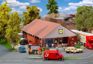 Новинка 2019!Модель супермаркета Lidl-Markt.Пр-во FALLER.Арт.130615.Масштаб НО (1:87).