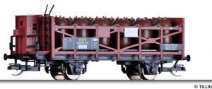 Акция!!!Модель 2-х осного вагона с тормозной площадкой для перевозки кислоты.Пр-во TILLIG.Арт.14448.Масштаб ТТ (1:120).