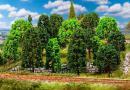 Для предзаказов!Новинка 2019!Модели 15-ти лиственных деревьев отсортированных.Пр-во FALLER.Арт.181524.Масштабы НО-ТТ (1:87-1:120).