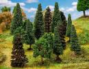 Для предзаказов!Новинка 2019!Модели 15-ти смешанных лесных деревьев отсортированных.Пр-во FALLER.Арт.181529.Масштабы НО-ТТ (1:87-1:120).