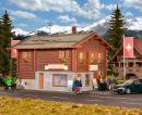 Модель деревянного дома транспортной компании в Davos (Швейцария).Пр-во KIBRI.Арт.38021.Масштаб НО (1:87).