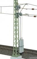Модель мачты контактной сети высотой 115мм с натяжителями.Пр-во VIESSMANN.Арт.4164.Масштаб НО (1:87).