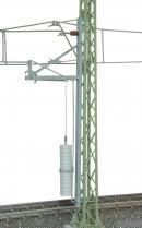 Модель мачты контактной сети высотой 115мм с натяжителями.Пр-во VIESSMANN.Арт.4165.Масштаб НО (1:87).