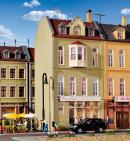 Модель жилого дома с пиццерией в Düsseldorf.Пр-во KIBRI.Арт.38392.Масштаб НО (1:87).
