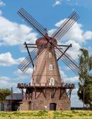 Модель ветряной мельницы в Hammarlunda.Пр-во KIBRI.Арт.39151.Масштаб НО (1:87).