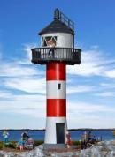 Модель маяка на реке Эльба ( Leuchtturm an der Elbe ).Пр-во KIBRI.Арт.39152.Масштаб НО (1:87).