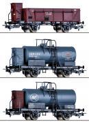 Для предзаказов!Модель сета 3-х грузовых вагонов.Пр-во TILLIG.Арт.70047.Масштаб НО (1:87).