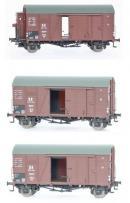 Модель 3-х вагонного сета 2-х осных крытых вагонов типа Oppeln.Пр-во Exact-Train.Арт.Ex20110.Масштаб НО (1:87).