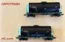 Сет 2-х вагонов цистерн для перевозки тяжелых нефтепродуктов с ванной обогрева.Пр-во ЕвроТрейн.Арт.0013.Масштаб НО (1:87).