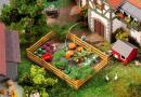 Новинка 2020года!Модель садового огорода с забором и овощами.Пр-во FALLER.Арт.181277.Масштаб НО (1:87).
