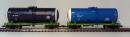 Сет 2-х вагонов цистерн,для нефти и бензина,принадлежности РЖД.Пр-во ЕвроТрейн.Арт.1201/1202.Масштаб НО (1:87).