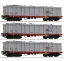 Модель сета 3-х полувагонов,4-х осных с грузом.Пр-во ROCO.Арт.76082.Масштаб НО (1:87).