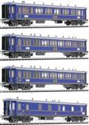 4-х вагонный сет пассажирского состава GB(GottardBahn).Фирма LILIPUT Арт.350115.Масштаб НО (1:87).