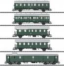 Модель 5-ти вагонного сета пассажирских вагонов для электровоза E 44.5.Пр-во ТRIX.Арт.23458.Масштаб НО (1:87).