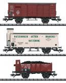 Модель 3-х вагонного грузового сета 2-х осных вагонов (Güterwagen-Set).Пр-во ТRIX.Арт.24148.Масштаб НО (1:87).