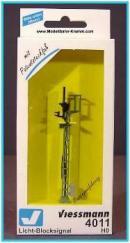 Блок-сигнальный светофор фирмы VIESSMANN.Арт.4011.Масштаб НО(1:87).