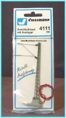 Мачта контактной сети с кабелем для питания.Пр-во фирмы VIESSMANN.Арт.4111.Масштаб НО (1:87).