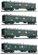 Сет пассажирского состава GB(GottardBahn).Фирма LILIPUT Арт.350116.Масштаб НО (1:87).
