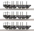 3-х вагонный сет платформ ROCO Арт.66184.Масштаб НО (1:87).