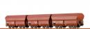 Сет из 3-х вагонов угольных хоперов,с тормозными площадками.BRAWA.Арт.47026.Масштаб НО (1:87).