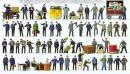 Сет ж/д персонал,обслуживающий персонал ж/д,ж/д почта,немецкая железная дорога ДВ,ранняя эпоха III,60 фигур и аксессуары.Фирма PREISER.Арт.13004.Масштаб НО (1:87).