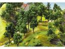 Сет весенние деревья 5штук.Фирма NOCH.Арт.24100.Масштабы НО/ТТ (1:87-1:120).