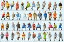 Сет 48 фигурок сидящих фигурок путешествующих.Фирма PREISER.Арт.14418.Масштаб НО (1:87).
