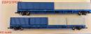 Сет 2-х вагонов платформ с 6-ю контейнерами,принадлежности РЖД.Пр-во ЕвроТрейн.Арт.1012.Масштаб НО (1:87).