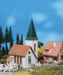 Модель сельской церкви.Пр-во FALLER.Арт.130240.Масштаб НО (1:87).