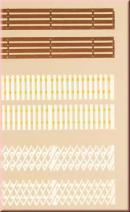 Деревянные заборы.Арт.42557.Масштаб НО-ТТ (1:87-1:120).