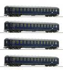 Модель 4-х вагонного сета пассажирских вагонов