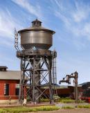 Модель водонапорной башни,с ж.д. паровозной заправочной колонкой.Пр-во KIBRI.Арт.39328.Масштаб НО (1:87).