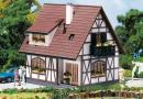 Модель односемейного фахверкового дома.Пр-во FALLER.Арт.130257.Масштаб НО (1:87).
