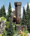 Модель руин средневекового замка.Пр-во FALLER.Арт.130285.Масштаб НО (1:87).