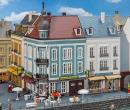 Модель 2-х городских домов ул.Beethovenstraße.Пр-во FALLER.Арт.130703.Масштаб НО (1:87).