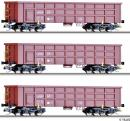 Сет из 3-х моделей полувагонов.Пр-во TILLIG.Арт.01677.Масштаб ТТ (1:120).