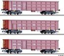 Акция!!!Сет из 3-х моделей полувагонов.Пр-во TILLIG.Арт.01678.Масштаб ТТ (1:120).