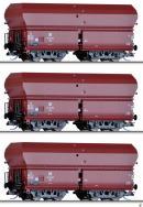 Сет из 3-х моделей вагонов-хоперов саморазгружающихся.Пр-во TILLIG.Арт.01709.Масштаб ТТ (1:120).