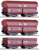 Сет из 3-х моделей вагонов-хоперов саморазгружающихся.Пр-во TILLIG.Арт.01710.Масштаб ТТ (1:120).
