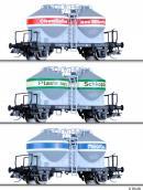 Сет из 3-х моделей силосных вагонов с тормозными площадками.Пр-во TILLIG.Арт.01732.Масштаб ТТ (1:120).