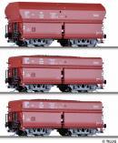 Сет из 3-х моделей вагонов-хоперов саморазгружающихся.Пр-во TILLIG.Арт.01736.Масштаб ТТ (1:120).