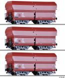 Сет из 3-х моделей вагонов-хоперов саморазгружающихся.Пр-во TILLIG.Арт.01737.Масштаб ТТ (1:120).