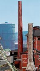 Модель трубы промышленной котельной.Пр-во FALLER.Арт.180623.Масштаб НО (1:87).