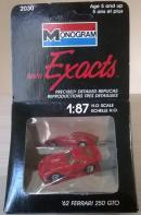 Модель автомобиля Ferrari 250 GTO.Пр-во Monogram.Арт.2030.Масштаб НО (1:87).