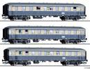 Модель сета 3-х пассажирских вагонов состава