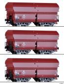 Сет из 3-х моделей вагонов-хоперов саморазгружающихся.Пр-во TILLIG.Арт.01790.Масштаб ТТ (1:120).