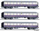 Для предзаказов!Модель 3-х вагонного сета 4-х осных пассажирских вагонов из состава