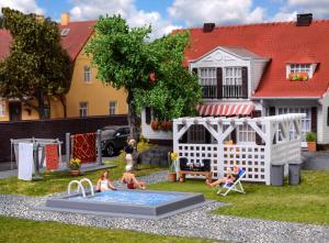 Модель сета аксессуаров для сада и терассы.Пр-во KIBRI.Арт.38148.Масштаб НО (1:87).