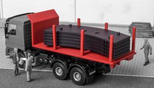 Модель съезжающей платформы для грузовика с краном грузом.Пр-во KIBRI.Арт.13051.Масштаб НО (1:87).